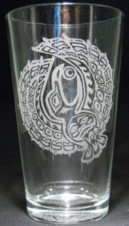 Raven by Holly Wiley on 16 oz. glass