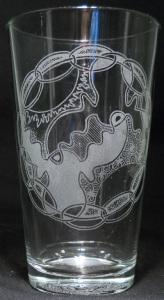 Yin Yang Moose by Kristin Koiv on 16 oz. glass