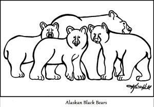 Alaskan Black Bears