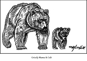 Grizzly Mama and Cub