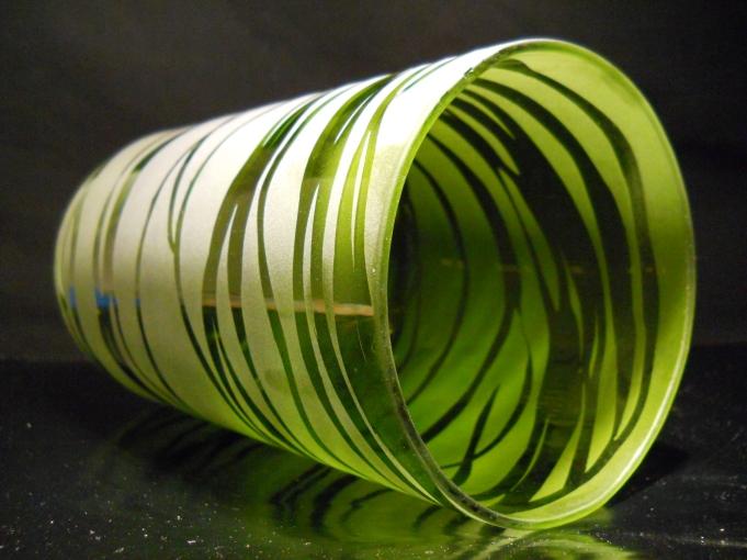 Reclaimed Glass-Large Green Wine Bottle Side
