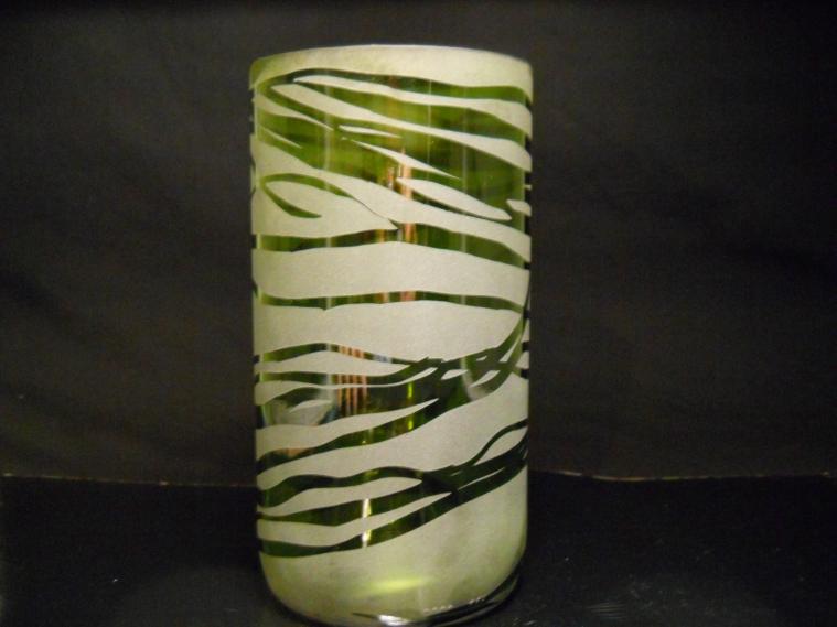 Reclaimed Glass-Large Green Wine Bottle